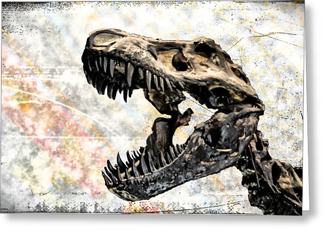 Trex Greeting Cards - TRex Greeting Card by Bill Cannon