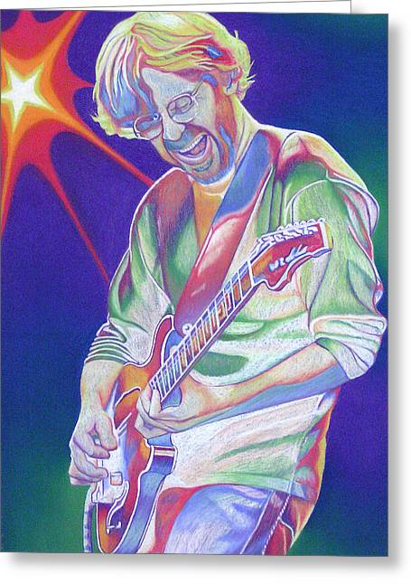 Lead Singer Greeting Cards - Trey Anastasio Greeting Card by Joshua Morton