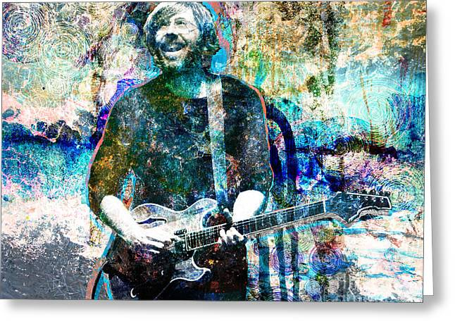 Hippie Greeting Cards - Trey Anastasio - Phish Original Painting Print Greeting Card by Ryan RockChromatic