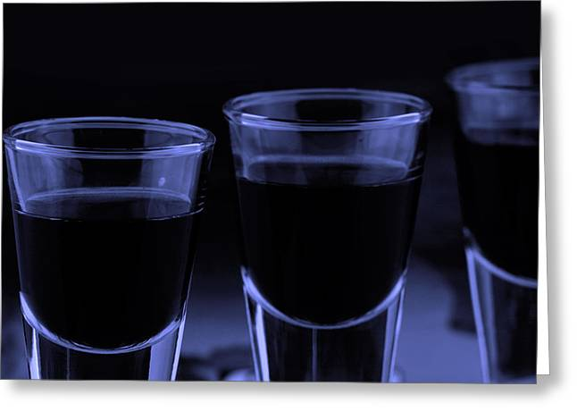 Sour Greeting Cards - Trhee shoot glasses Greeting Card by Toppart Sweden
