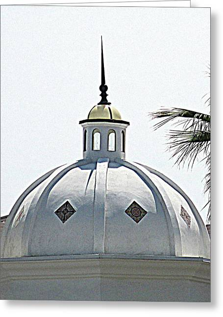 Mediterranean Style Greeting Cards - Triad Dome Greeting Card by Randall Weidner