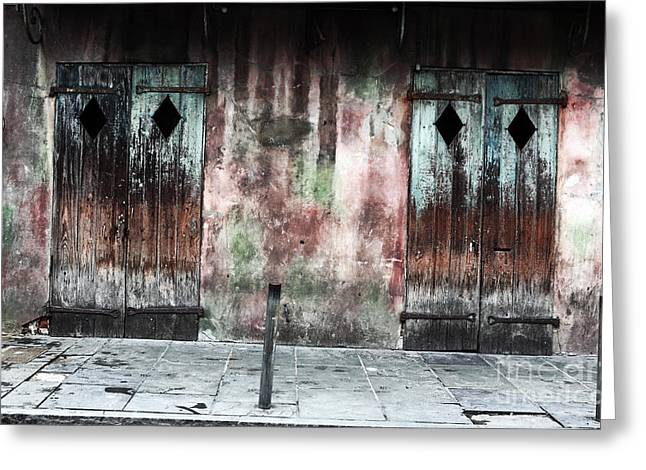 Crescent City Greeting Cards - Triangle Doors Greeting Card by John Rizzuto