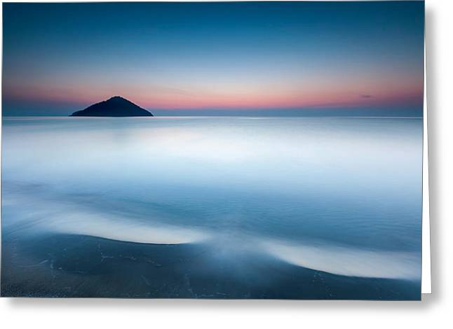Aegean Greeting Cards - Triangle Island Greeting Card by Evgeni Dinev