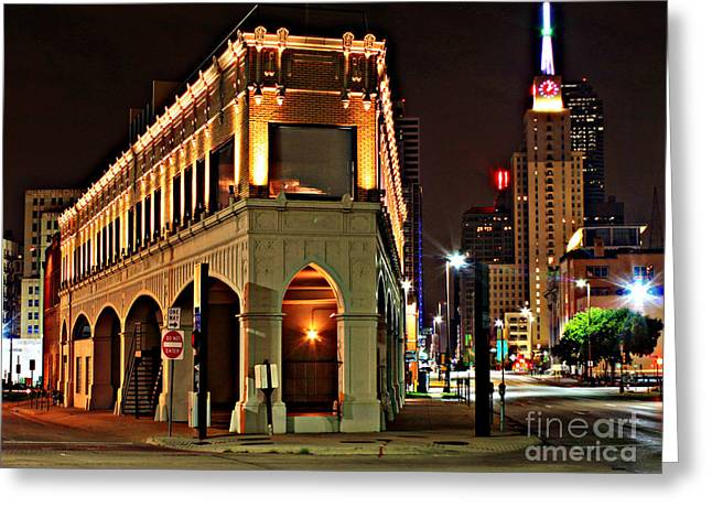 Observer Digital Greeting Cards - Triangle Point Building - Dallas Greeting Card by Peter Stawicki