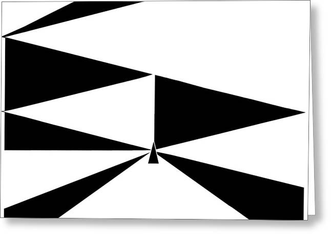 Abstract Expressionist Greeting Cards - Triangles 2 Greeting Card by Eloise Schneider
