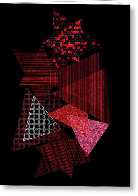Geometric Effect Greeting Cards - Triangles combination Greeting Card by Mario  Perez