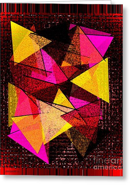 Effect Greeting Cards - Triangles in Abstract Art  Greeting Card by Mario  Perez