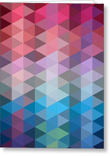 Surreal Geometric Greeting Cards - Triangles Greeting Card by Mark Ashkenazi