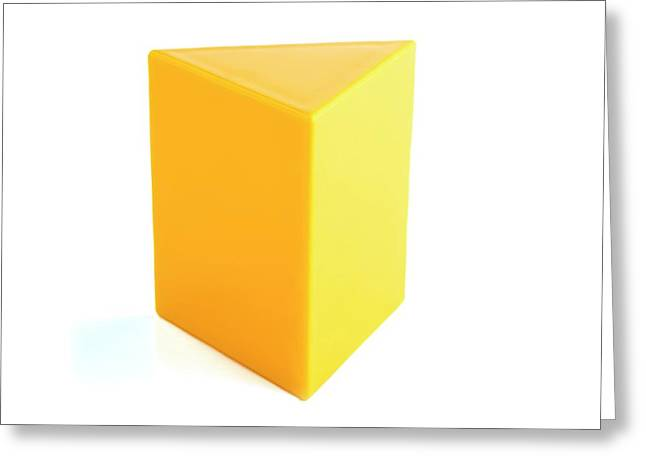 Triangular Prism Greeting Card by Science Photo Library