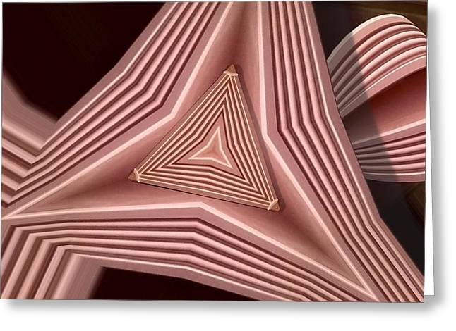 Distortion Greeting Cards - Triangular Greeting Card by Ron Bissett