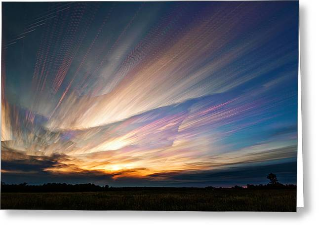 Triangular Void Greeting Card by Matt Molloy