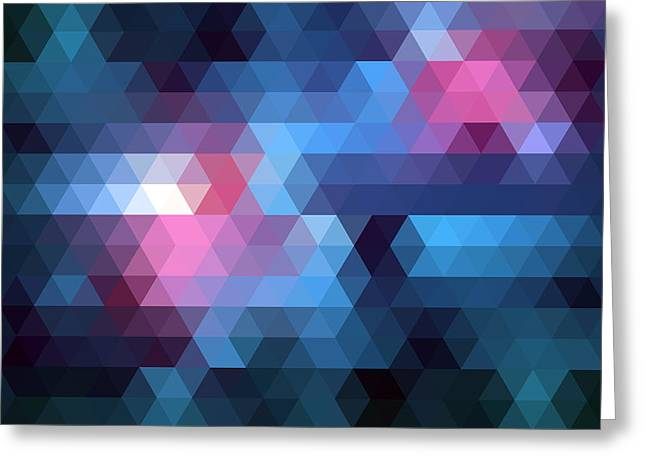 Geometric Digital Art Greeting Cards - Triangulation Greeting Card by Taylan Soyturk