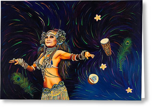 Tribal Belly Dance Greeting Cards - Tribal Allure Greeting Card by Sherri Carroll