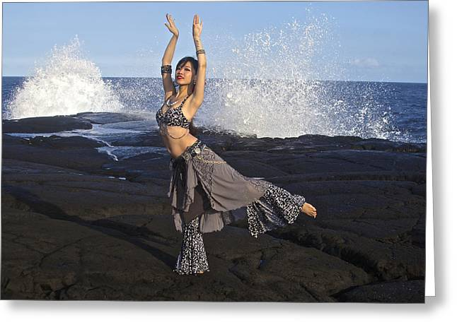 Tribal Belly Dance Greeting Cards - Tribal Belly Dancer Greeting Card by Venetia Featherstone-Witty