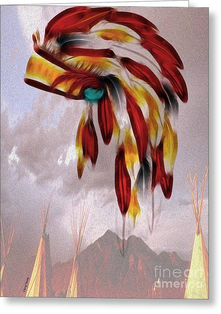 Lakota Greeting Cards - Tribal Greeting Card by Cheryl Young