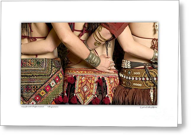 Tribal Belly Dance Greeting Cards - Tribal Dancers Greeting Card by Cynthia Holling-Morris