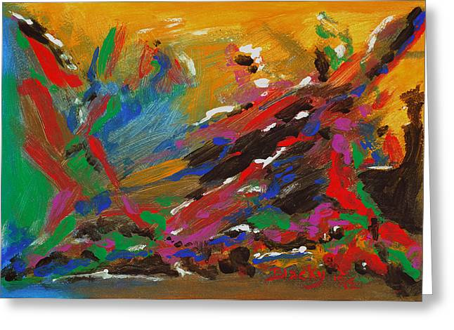 Abstract Expressionist Greeting Cards - Tribal Fusion Greeting Card by Donna Blackhall