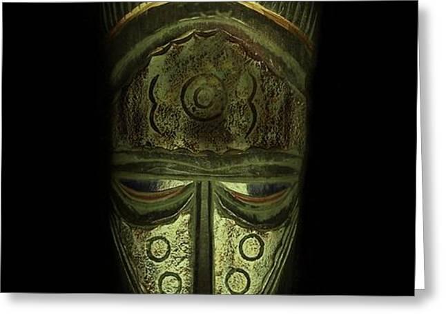 Tribal Mask  Greeting Card by David Dehner