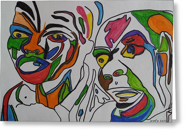 Cocain Greeting Cards - Tribal Thoughts 2011 Greeting Card by Sir Josef  Putsche