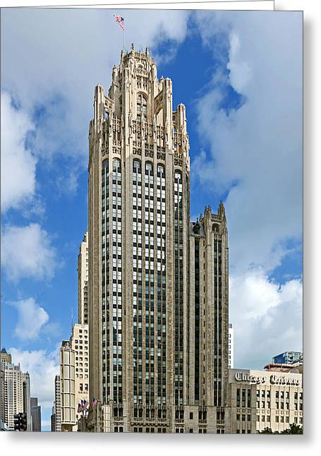 Tribune Tower - Beautiful Chicago Architecture Greeting Card by Christine Till