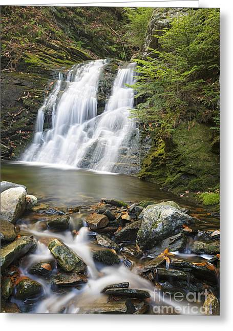 White River Scene Greeting Cards - Blue Ravine Cascades - Benton New Hampshire Greeting Card by Erin Paul Donovan