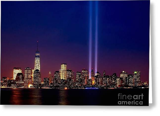 Wtc 11 Greeting Cards - Tribute 2013 Greeting Card by Nick Zelinsky