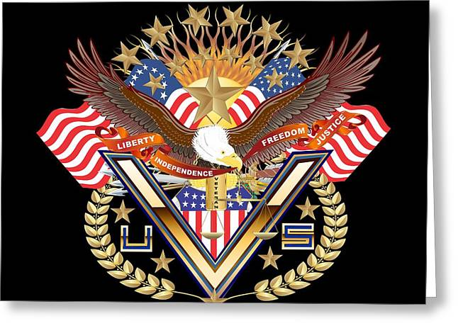 Politician�s Wives Greeting Cards - Tribute American Veteran 1 Greeting Card by Bill Campitelle