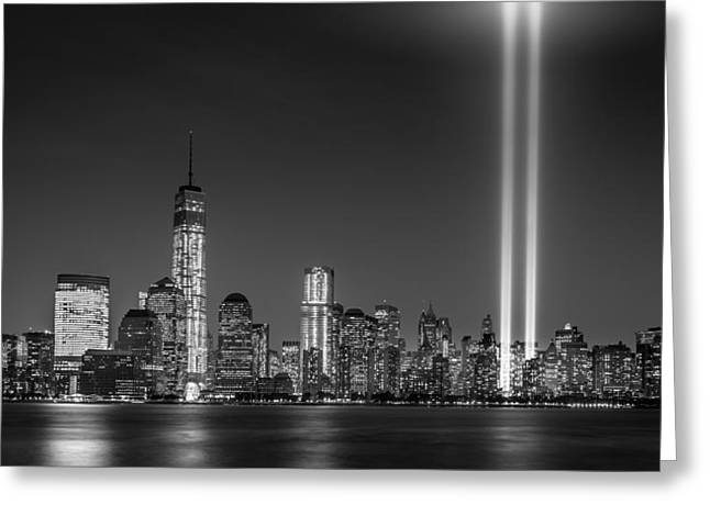 Wtc 11 Greeting Cards - Tribute in Light 2013 Greeting Card by Mihai Andritoiu