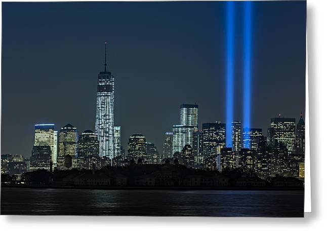 September 11 Wtc Greeting Cards - Tribute In Light 2013 Greeting Card by Susan Candelario