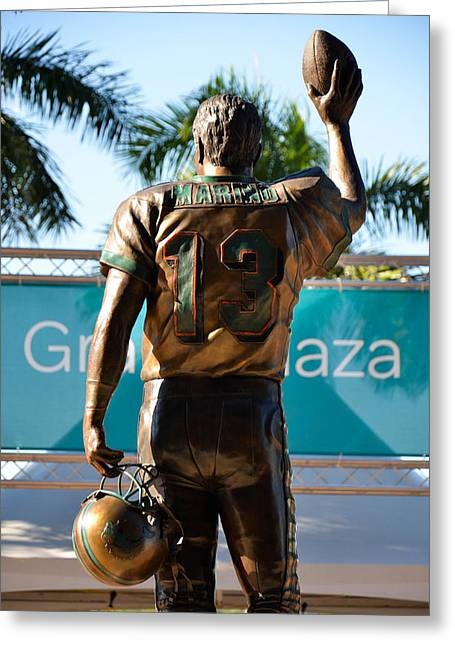 Dan Marino Photographs Greeting Cards - Tribute to Dan Marino Greeting Card by Starla Shepherd