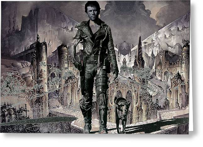 Tribute To Mad Max Greeting Card by Francis Erevan