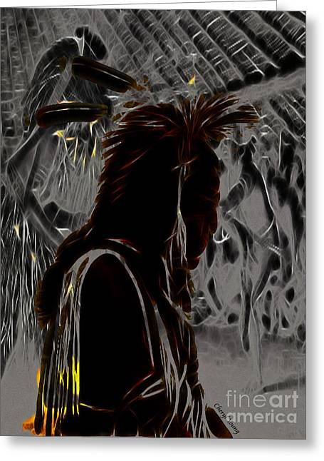 Arapaho Greeting Cards - Tribute to Mateo Greeting Card by Cheryl Young