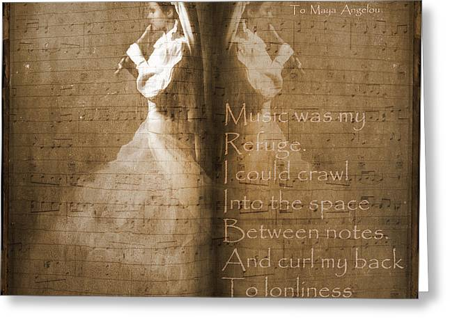 Tribute To Maya Angelou And Authors Greeting Card by Georgiana Romanovna