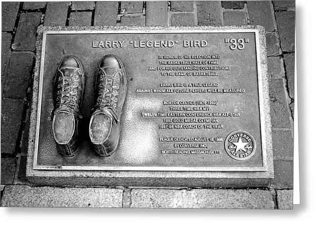 Larry Bird Greeting Cards - Tribute to The Bird Greeting Card by Greg Fortier