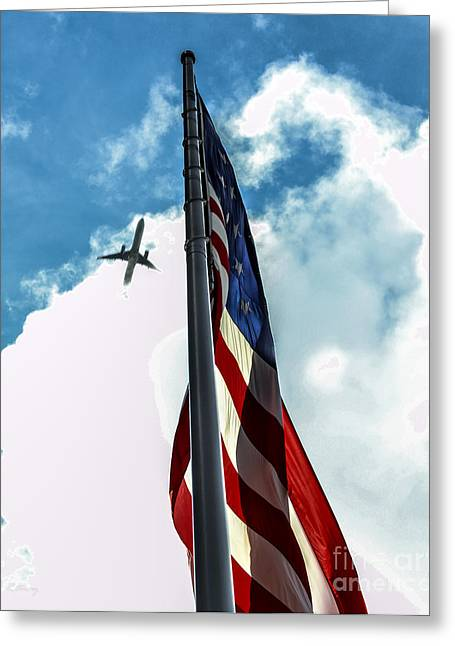 Rene Triay Photography Greeting Cards - Tribute to the Day America Stood Still Greeting Card by Rene Triay Photography