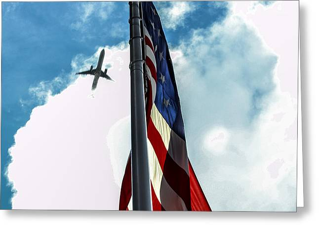 Tribute to the Day America Stood Still Greeting Card by Rene Triay Photography