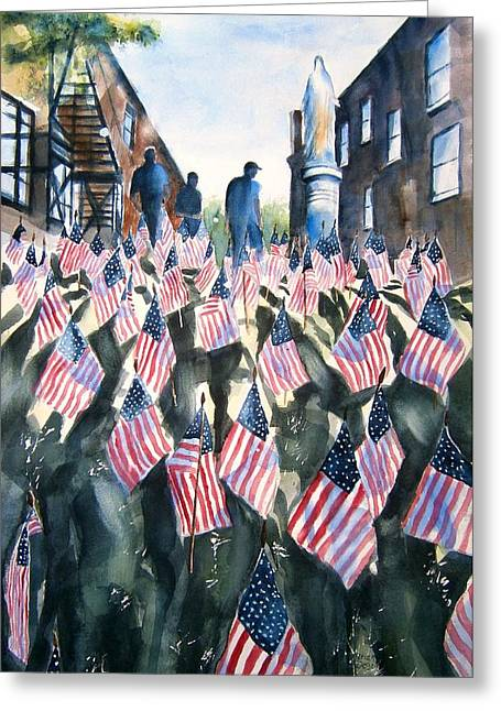 Veterans Memorial Paintings Greeting Cards - Tribute to the fallen Greeting Card by Brian Degnon