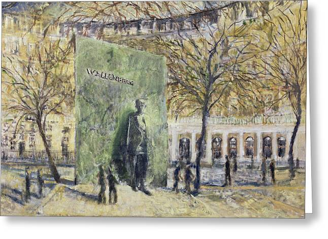 Diplomat Greeting Cards - Tribute To Wallenberg, 1998 Oil On Canvas Greeting Card by Patricia Espir