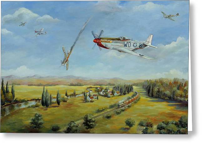 Airforce Paintings Greeting Cards - Tribute to Willy ODonnell Greeting Card by Chris Brandley