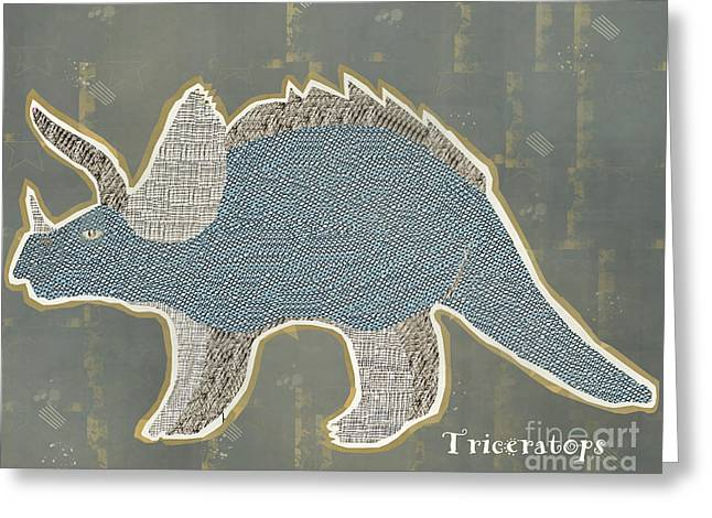 Triceratops Greeting Cards - Triceratops Greeting Card by Bri Buckley
