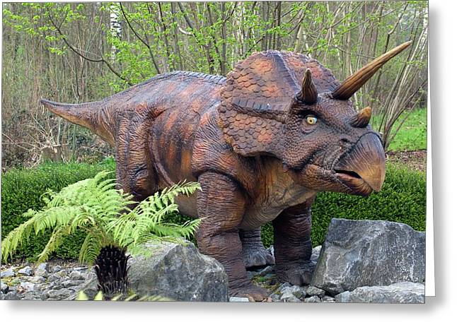 Triceratops Model II Greeting Card by Dirk Wiersma