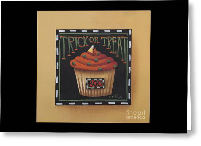 Frosting Greeting Cards - Trick or Treat Greeting Card by Catherine Holman