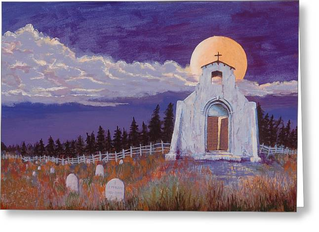Headstones Greeting Cards - Trick or Treat Greeting Card by Jerry McElroy