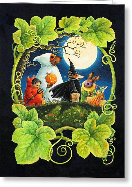 Halloween Card Greeting Cards - Trick or Treat Greeting Card by Lynn Bywaters