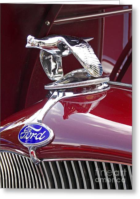 Car Part Greeting Cards - Tricked Out Ford Greeting Card by Skip Willits