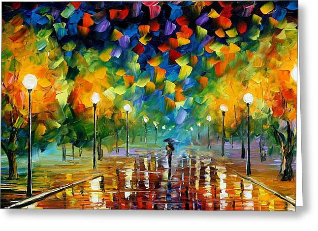 Recently Sold -  - Popular Art Greeting Cards - Tricks Of The Summer - PALETTE KNIFE Oil Painting On Canvas By Leonid Afremov Greeting Card by Leonid Afremov