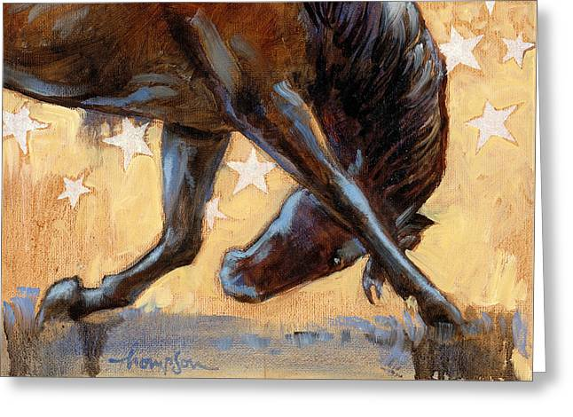 Tricks Paintings Greeting Cards - Tricky Pony Greeting Card by Tracie Thompson
