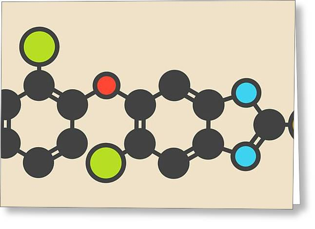 Triclabendazole Anthelmintic Molecule Greeting Card by Molekuul