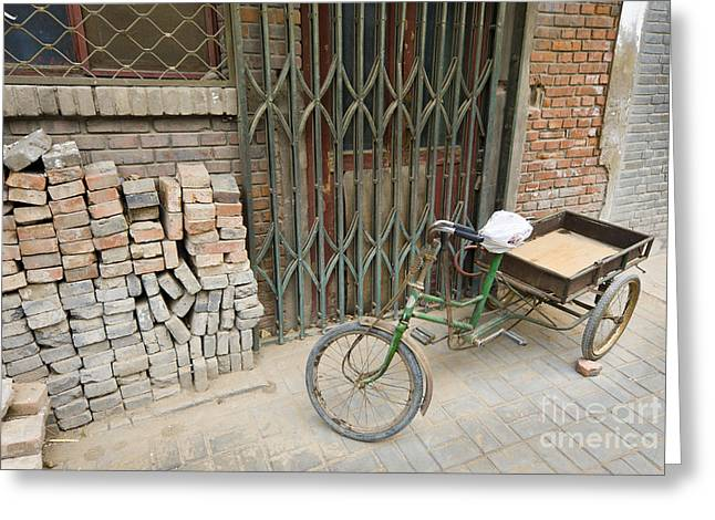 Hutong Greeting Cards - Tricycle Greeting Card by John Shaw