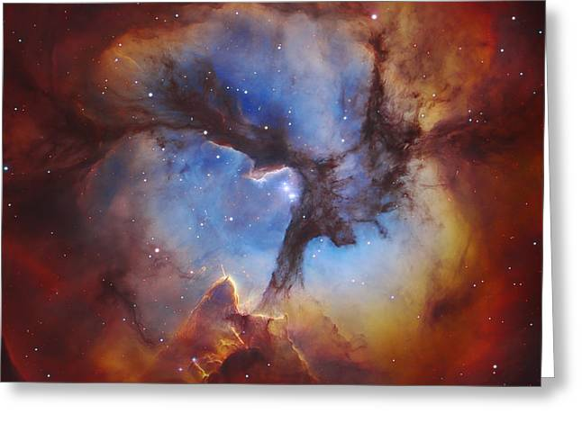 Magellanic Greeting Cards - Trifid Nebula Greeting Card by Celestial Images